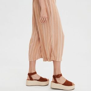 AEO high waisted striped culottes